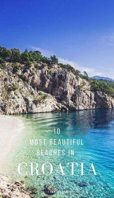 10 Best Beaches in Croatia. One of Europe's top sunshine destinations, Croatia has thousands of miles of coastline. Here are 10 of its most beautiful beaches to check out this summer. Europe Destinations, Europe Travel Tips, European Travel, Places To Travel, Places To See, Europe Beaches, Travel Hacks, Holiday Destinations, Italy Travel