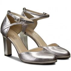 Pantofi KOTYL - 5891 Srebro/Szary