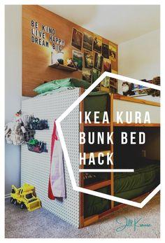 Ikea Bunk Bed Hack, Ikea Kura Hack, Murphy Bed Ikea, Ikea Hacks, Ikea Sofa, Shared Boys Rooms, Big Girl Rooms, Kids Rooms, Boy Rooms