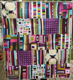 Quilt by Cynthia Frenette made w/ Kona Modern Quilts fabric