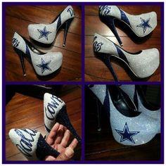 NFL Custom Heels by RenegadeHeels on Etsy, $60.00