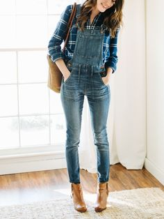 Flannel and overalls