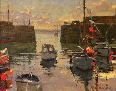 Mousehole harbour by Ken Howard
