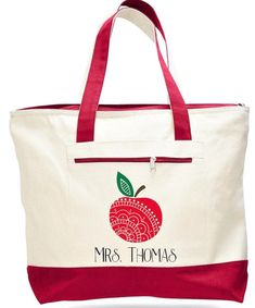 Tote Shoulder bag Cotton Canvas Printed with Two front Pocket Mrs