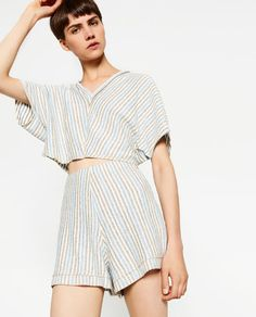 Image 2 of STRIPED SHORTS from Zara