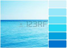 clear palette: Clear ocean water in resort and palette of colors