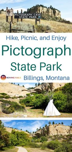 Pictograph State Park is a fantastic day trip from Billings for the whole family.even the dog! Take a hike, have a picnic, and marvel at the ancient pictographs of the Native Americans. Us Travel Destinations, Places To Travel, Wyoming, Idaho, Travel Usa, Travel Trip, Adventure Travel, Get Outdoors, Road Trip Usa