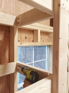 These DIY garage shelves are cheap and easy to make, and give you plenty of storage in a small footprint! Get these free garage shelves plans and start building! Garage shelves don't have to cost Shed Shelving, Garage Wall Shelving, Garage Storage Cabinets, Shelving Ideas, Shelf Ideas, Wood Shelves, Storage Shelves, Armoire Garage, Garage Shed