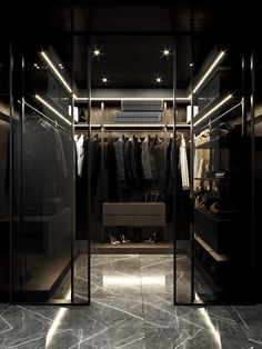 Black Bedroom Design, Bedroom Closet Design, Home Room Design, Dream Home Design, Closet Designs, Modern House Design, Home Interior Design, Dressing Room Design, Home Building Design