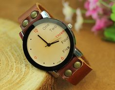 Handmade watches high quality the female watch brown by TimeBible, $13.99