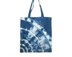 Hand Dyed Shibori Tote Bag by NicoleVertina on Etsy Shibori Techniques, Tie Dye Designs, Cotton Bag, Indigo, Reusable Tote Bags, Trending Outfits, Shops, Community, Color