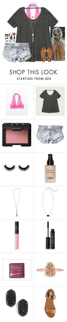 """""""s p a c e s between us"""" by callmekt ❤ liked on Polyvore featuring Free People, Abercrombie & Fitch, NARS Cosmetics, Bobbi Brown Cosmetics, Kendra Scott, Benefit and Steve Madden"""