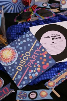 "I think I want to do a theme for my birthday. Since I was born in the I wanna do Disco! RECORD Invitation - great idea Photo 1 of Disco Party / Birthday ""Mia's Disco Party"" Disco Party, Disco Birthday Party, Disco Theme, 60s Party, 40th Birthday Parties, Party Time, 10th Birthday, Baby Birthday, Birthday Ideas"