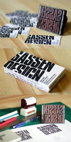 Stamped Business Cards | Business Cards | The Design Inspiration
