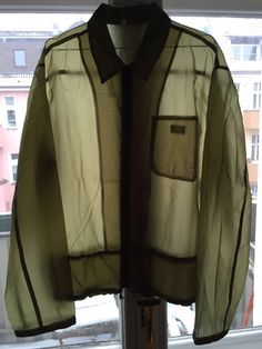 Helmut Lang Archive 1998 Transparent Windbreaker Military Green | eBay