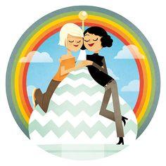 Ilustraciones contra la homofobia en Rusia