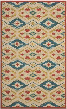Safavieh Four Seasons FRS479 Natural Blue Rug | Contemporary Rugs #RugsUSA