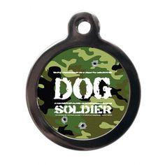 Dog Soldier Pet Tag #PetPinUp #PetRunway