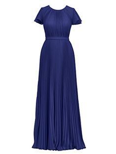 Alicepub Womens Short Sleeve Bridesmaid Dress Long Evening Dresses for WeddingRoyal BlueUS16 ** You can find more details by visiting the image link. (Note:Amazon affiliate link)