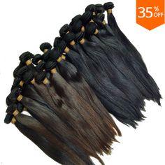 10pcs cheap hair wholesaler virgin straight brazilian hair brown cabelo humano braiding hair weaving free shipping