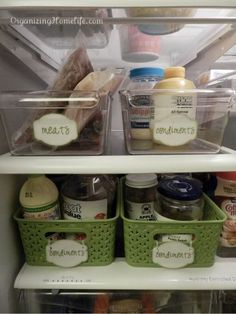 Fridge Organization ~ plus FREE printable labels | Organizing Homelife