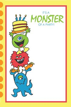Free printables for a monster party #monster #printables