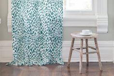 Dots and Drops Curtain by Catherine Hubert | Minted