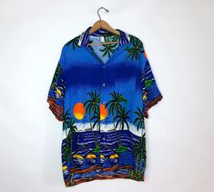 Vintage original 1970s 70s novelty Seaman print short or blouse with structured cuffs Sz 36 XS S