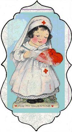 Vintage Nurse Valentine