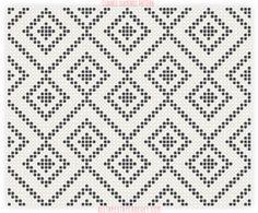 Chained Diamonds Tapestry Crochet Pattern