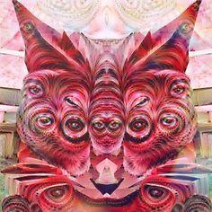 #fridaythe13th #deepdream #cat #monster #surreal #nightmare #creature #art #modernart #catnip #acid #vision #weirdart #trippyart #psychedelic #catstagram #psicodelia #electriccatnip by electriccatnip