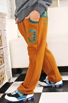 Aliexpress.com : Buy Free Shipping Boys Winter Clothes Cotton Pants Leisure Wear K0228 from Reliable Boys Winter Clothes suppliers on SICIBAY - Kids' Clothing:Selling for Donating Boys Winter Clothes, Boys Clothes Style, Future Clothes, Boys Joggers, Mens Sweatpants, Boys Pants, Baby Boy Outfits, Kids Outfits, Discount Kids Clothes