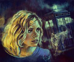 Rose is Bad Wolf by Alea-Lefevre.deviantart.com on @deviantART Photoshop CS5  Wacom intuos4 Ref : Doctor Who episodes