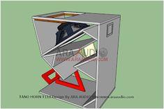 √ Skema Box TANO Horn T118 Bass Jauh | ARA AUDIO Subwoofer Box Design, Speaker Plans, Horns, Bass, Audio, Klipsch Speakers, Drawers, Bricolage, Horn