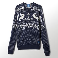 With a Nordic-inspired graphic, this men's sweater is ready for whatever cold weather brings. It features a slim fit and a crewneck cut.