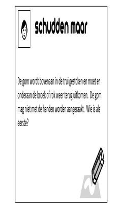 Tussendoortjes by Ive Hapers Minute To Win It, Toddler Activities, Games For Kids, Challenges, Cards Against Humanity, Classroom, Teacher, Letters, Games For Children