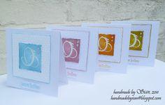 embossed card set...