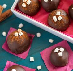 Mexican Hot Chocolate Truffles-Spicy Mexican hot chocolate is reimagined into rich truffles that are the perfect upscale homemade dessert! Mexican Hot Chocolate Truffles make a great gift idea too.