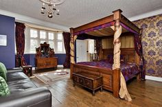 18 bedroom detached house for sale in Blythe Bridge Road, Caverswall, Staffordshire - Rightmove. Brothers Furniture, Four Poster Bed, Wedding Gifts For Groom, Stoke On Trent, Property Search, Flats For Sale, Beautiful Bedrooms, Detached House, Modern Luxury