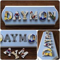 Name Puzzle, Paw Patrol, Names, Unique Jewelry, Handmade Gifts, Awesome, Etsy, Kid Craft Gifts, Handcrafted Gifts