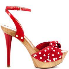 Yamini - Red Multi Fabric Guess Shoes