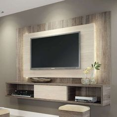 Living room tv wall ideas the best unit design ideas on wall design wall mount tv . Tv Cabinet Design, Tv Wall Design, Bedroom Tv Unit Design, Design Room, Deco Tv, Living Room Designs, Living Room Decor, Tv Stand Ideas For Living Room, Wall Cabinets Living Room