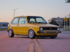I absolutely love this! Such a cool color on this awesome car :) 1977 Volkswagen Rabbit MK1