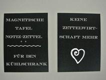 """Tafel Kühlschrankmagnet """"Notizzettel"""""""