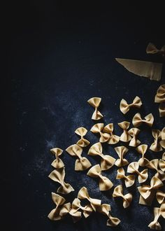 homemade farfalle /