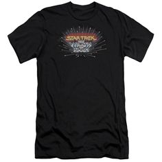 Star Trek/Khan Logo Short Sleeve Adult T-Shirt 30/1 in