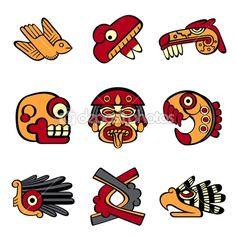 Aztec symbols — Stock Vector #12243344