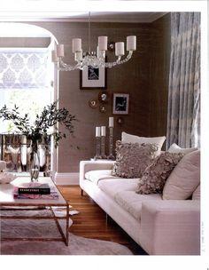 Designer Lynne Scalo featured Glam Grass 5217 Geneva Grey and Madagascar Raffia in Connecticut residence.
