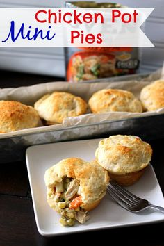 Mini Chicken Pot Pies #dinner #chicken