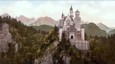 King Ludwig II of Bavaria spent a fortune building his famous castles. The stunning Neuschwanstein was the inspiration for Walt Disney's Cinderella's Castle. But, was Ludwig insane? Chateau Medieval, Medieval Castle, Victorian Castle, Minecraft Medieval, Medieval Fortress, Fairytale Castle, Cinderella Castle, Fantasy Castle, Princess Castle